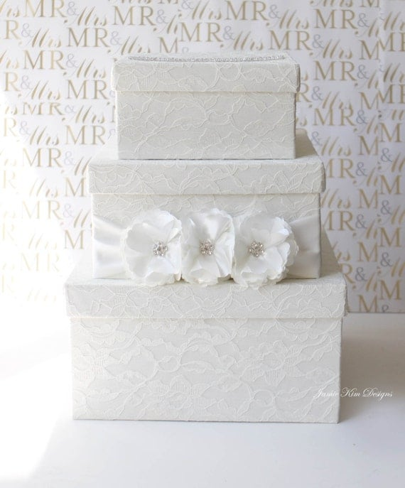 Laced Wedding Card Box Money Holder- Custom Made to Order