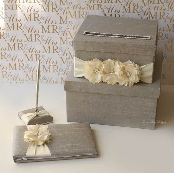 Wedding Card Box Money Box and Guestbook set