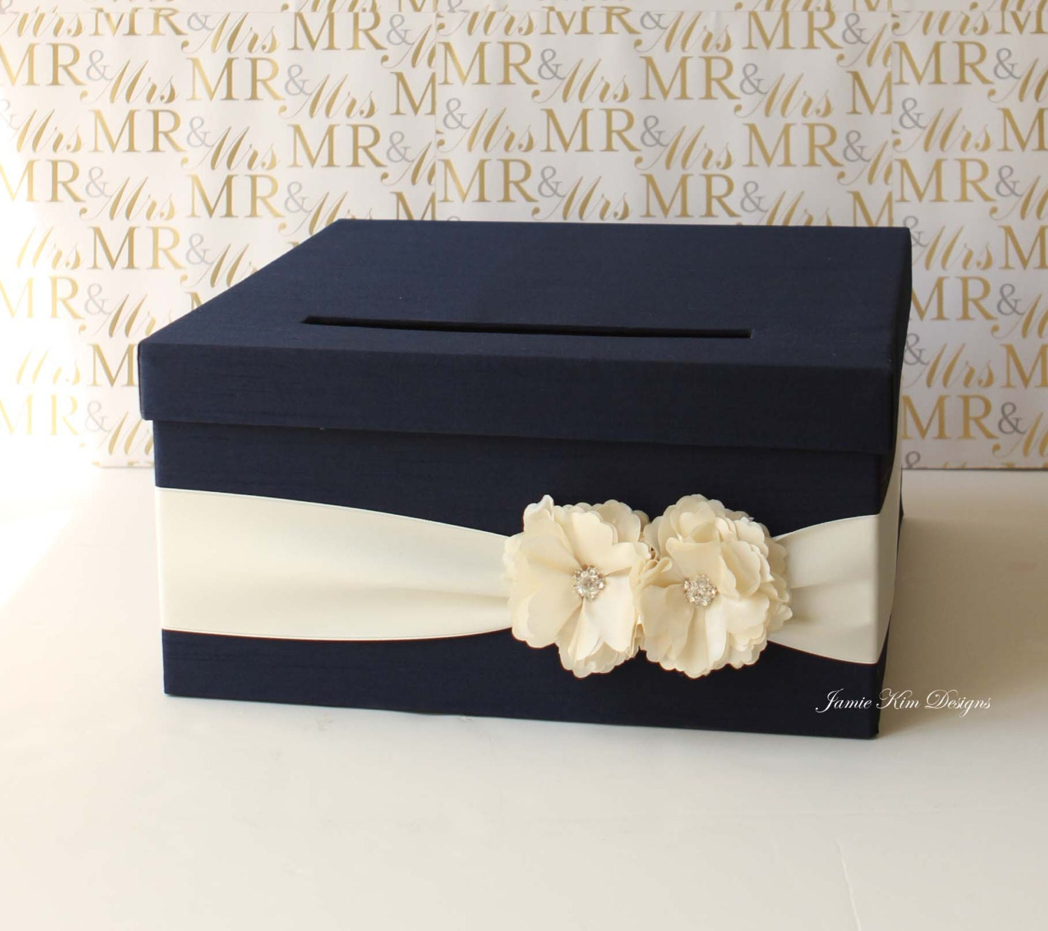 Wedding Card Box Gift Card Holder Money Box By Jamiekimdesigns