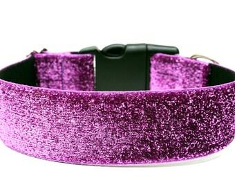 """Glitter Dog Collar 1.5"""" Bling Dog Collar"""