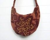 Bohemian Gypsy Bag Purse Rust Cut Chenille