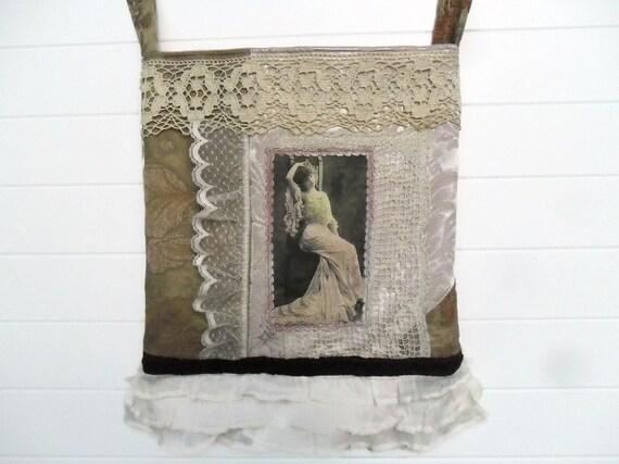 Victorian Bohemian Bag Purse Vintage Antique Lace