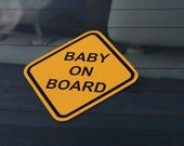 Baby on Board Sticker / Window Decal - Any Language