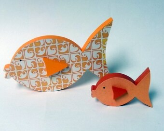 FREE SHIPPING!  Goldfish Baby and Mama - Home Decor