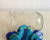 Ombre Buttons - Blue Buttons - Handmade Buttons