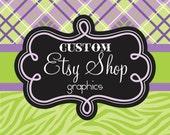 Custom Etsy Shop Graphics / Etsy Banner / Avatar / Custom Design