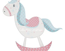 Rocking Horse Digital Clipart - Clip Art for Commercial and Personal Use