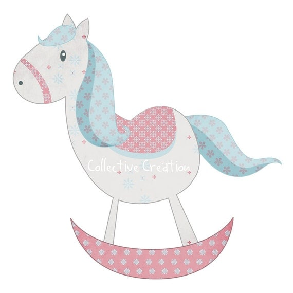 Rocking Horse Digital Clipart - Clip Art for Commercial and Personal ...