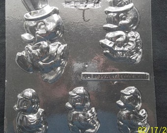 Easter chocolate novelty mold -  5 Assorted chick / ducky shapes