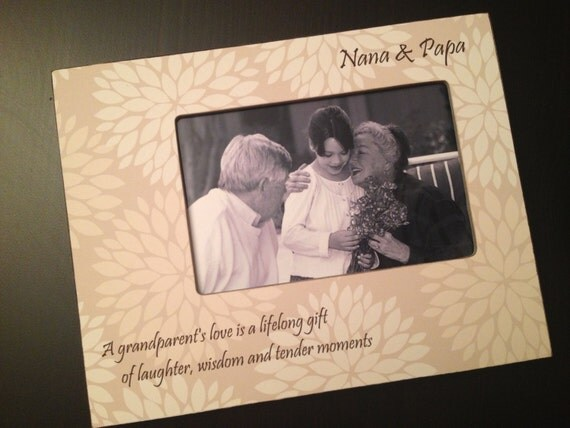 Grandparents Gift Personalized Nana Gift Grandfather Gift For Nonna Nonno Gift Personalized Wood 4x6 Picture Frame 4x6 Keepsake Frame