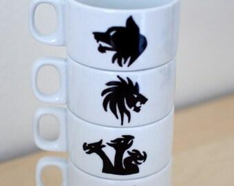 Game of Thrones House Crest Stacking Mug Set