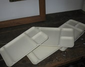Vintage set of six Tupperware divided dinner trays