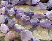 Natural Rock Ametrine Irregular Beads Strand, 16-Inch Strand G01112