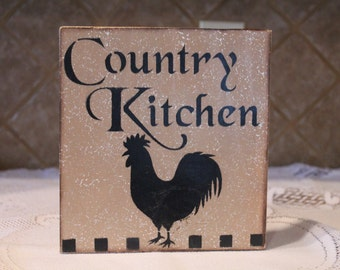 Popular objects for fowl us of a on Etsy - Rooster Country Decor