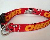 Kansas City Chiefs dog collar..... Your choice of size