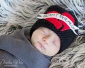 Heart Breaker Baby Beanie 3-6 months