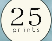 25 PRINTS - SINGLE SIDED Printed Invitations Cards - 120484083