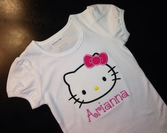 Hello Kitty Shirt - Girly Ruffle Hem Shirt