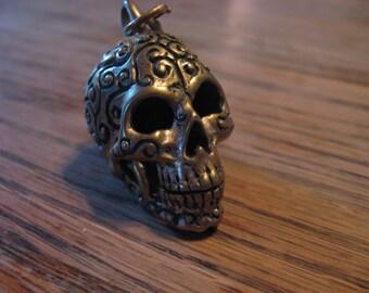 Bell Bronze Celtic Skull Motorcycle Spirit Bell