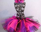 CUSTOM Listing- Rock Star Tutu Pink - Birthday Tutu- Party Tutu - Black - Purple Tutu - FAST SHIPPING