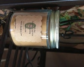 Small 4oz Straight Jar 100% Soy Candle. Choose Your Scent. Natural. Lead Free. Long Burning.