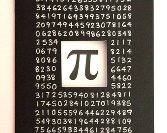 Pi Card - Math Nerd Card - 3.14 - Pi Day, Birthday, Graduation, Father's Day, Any Occasion