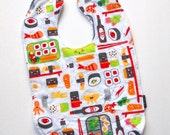 Sushi Toddler Bib Cotton terry cloth snap bento