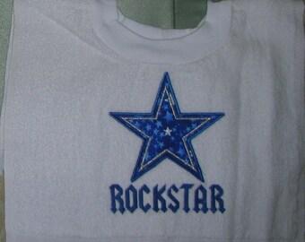 Rockstar Appliqued Pullover Towel Bib