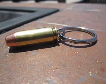 10mm Bullet Key Chain Brass Cased- Rare