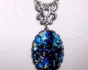 Blue Japanese Water Opal Necklace
