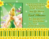 Disney's Tinkerbell Custom Invitation  in digital  jpeg format for you to print