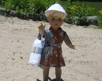 Brown Print Wrap around Beach Dress