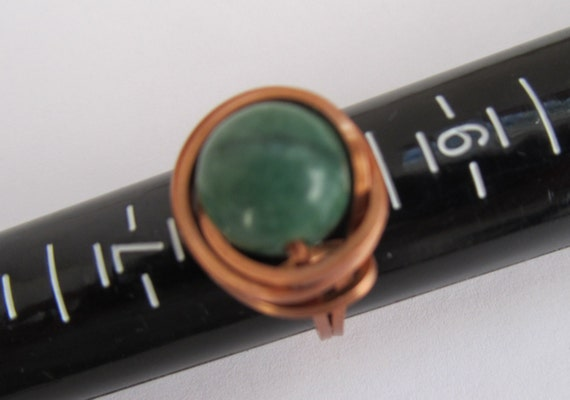 RESERVED FOR TANDRA - Forest Green Malay Jade Copper Ring