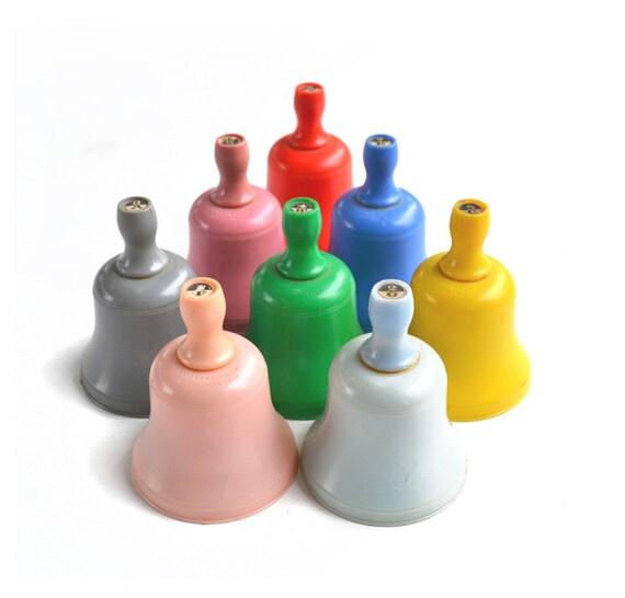 SALE vintage bells vintage toy RARE complete octave 8 bells knickerbocker  offered by Elizabeth Rosen