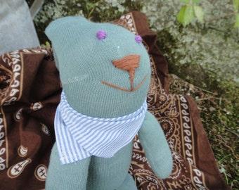 Handmade Stuffed Sock Animal Easter Bunny Rabbit Child Safe Toy