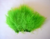 Feathers...Hair Extension.....Earrings.....Craft..  Colour ,  Insect Green