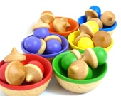 Waldorf Acorn Color Sorting and Learning Rainbow Toy