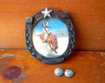 Vintage western earrings vintage chaps