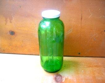 Vintage green juice jar