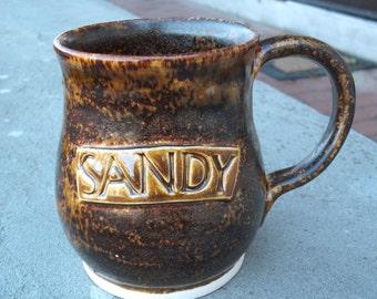 Personalized Hand Thrown Stoneware Mug