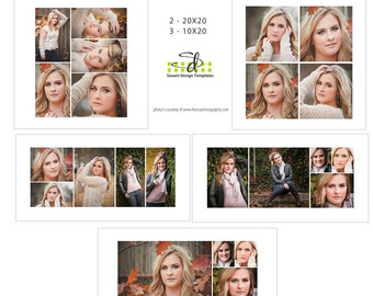 Storyboard Collage Senior Photography Template - Classic INSTANT DOWNLOAD