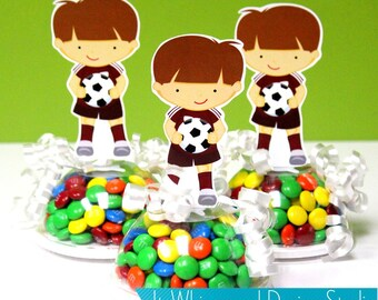 Soccer Boy Player Birthday Party / Favor / Gifts / Candy Container / Party Favor Boxes / Kids Favors / Centerpieces / Decoration / Decor