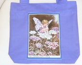 Children's Library Book Bag/Tote Bag - With Fairy Print
