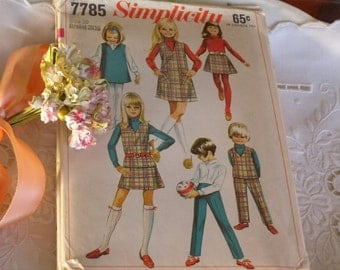 A set of Four Vintage Late 1960s Patterns for Girls All Size 10