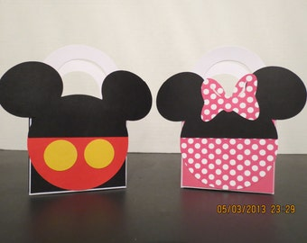Mickey & Minnie Mouse Favor/Treat Bags (set of 6)