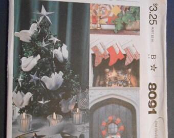 McCalls 8091, Christmas Ornaments, Decorations