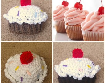 Crochet Cupcake Beanie/Hat
