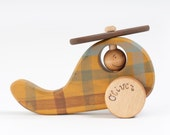 Personalized Wooden Toy Helicopter, natural kids toy