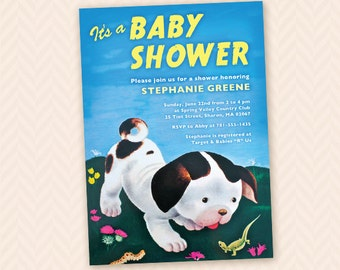 Poky Little Puppy Inspired Baby Shower Invitation Design