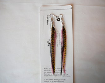 Gorgeous  Colourful  Feather Earings Set ..........Accents to your Feather Hair Extension By The MyCollection2